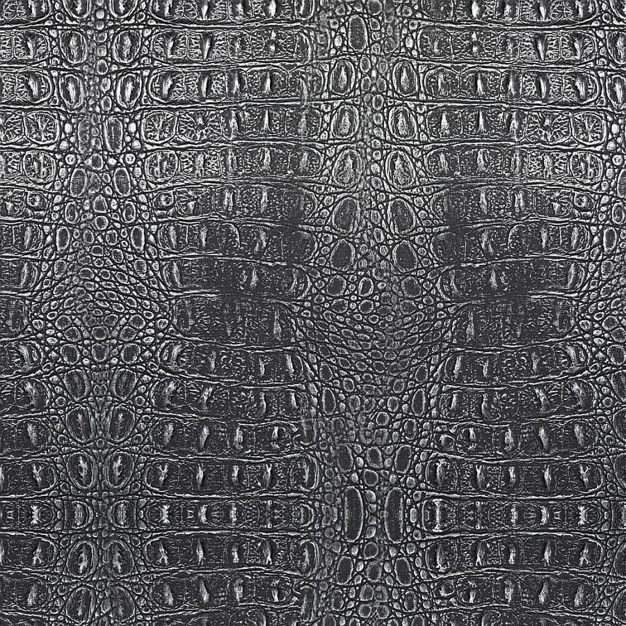 panneau decoratif 13521 croco optique metal effet peau de crocodile noir argent wallface. Black Bedroom Furniture Sets. Home Design Ideas