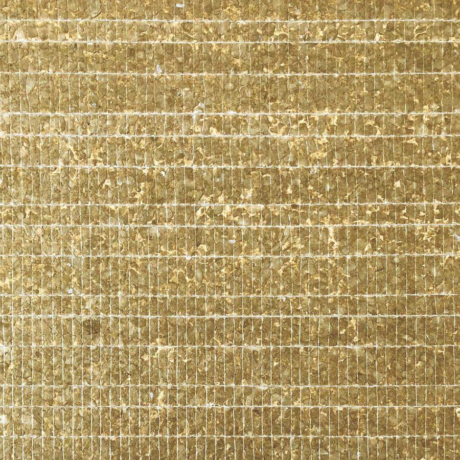 Настенное покрытие CSA07-4 CAPIZ ручной работы с натуральными перламутровыми ракушками Capiz коричнево-золотое