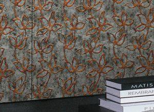 Decor Panel 14799 FLORAL ALISE 3D floral baroque look brown grey