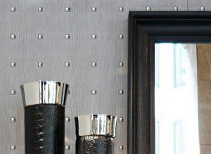 Decor Panel 16440 SQUARE metal look 3D decorative rivets silver