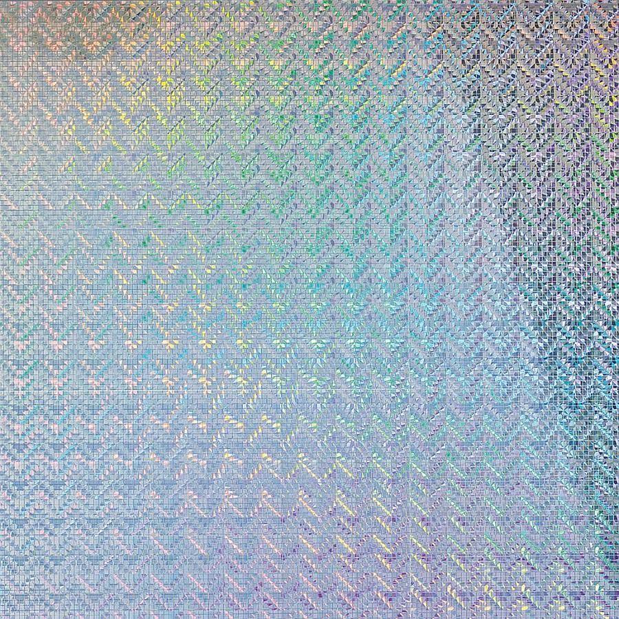 Dekorpaneel 10575 Spiegelmosaik Metall Optik Silber Holographisch
