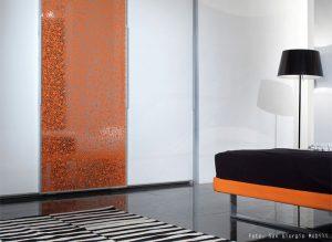 wandpaneel-3d-70ies-bubble-dekor-orange-silber-wallface-11713-int