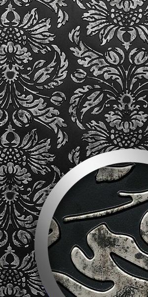 wandpaneel-barock-dekorpaneel-schwarz-silber